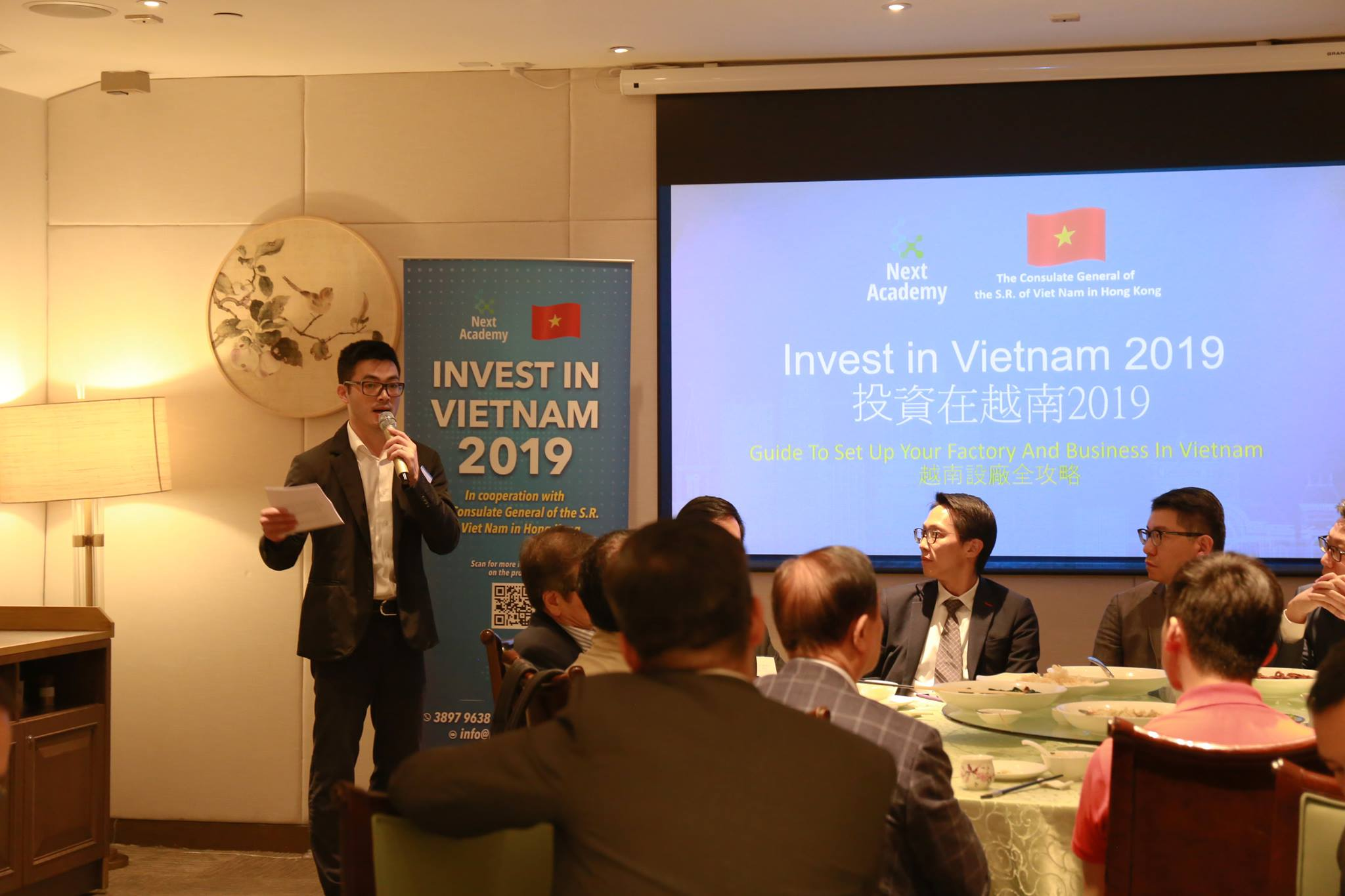 Mr Duy Kien Nguyen, the Deputy Consul General of Vietnam in Hong Kong (Economy-Commerce)
